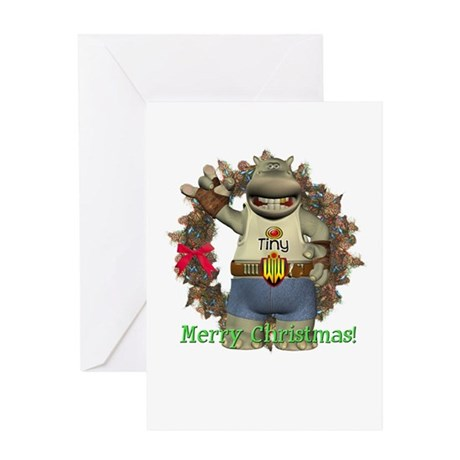 Heath Hippo Christmas Card