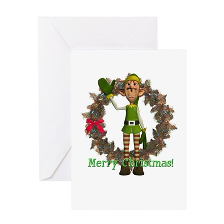 Elf Christmas Card