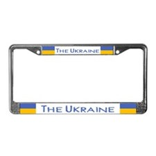 """Ukraine Flag"" License Plate Frame"