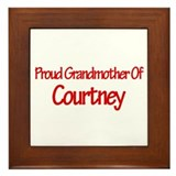 Proud Grandmother of Courtney Framed Tile