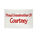 Proud Grandmother of Courtney Rectangle Magnet