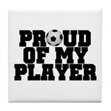 Soccer Player Pride Tile Coaster