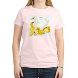 Duck and Ducklings (Front) Women's Pink T-Shirt