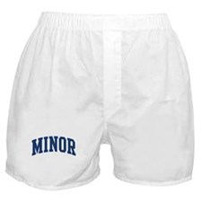 MINOR design (blue) Boxer Shorts