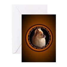 Pomeranian Greeting Cards Pk of 20 Small Dog Cards