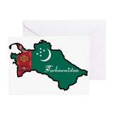 Cool Turkmenistan Greeting Cards (Pk of 20)