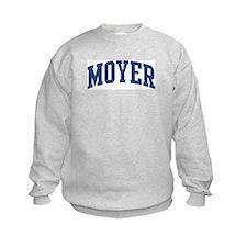 MOYER design (blue) Sweatshirt