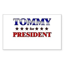 TOMMY for president Rectangle Decal