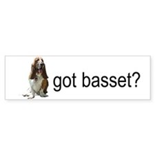 got basset? Bumper Sticker - Tri-color Sitting