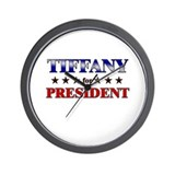 TIFFANY for president Wall Clock