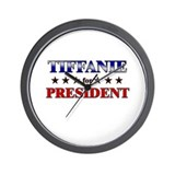 TIFFANIE for president Wall Clock