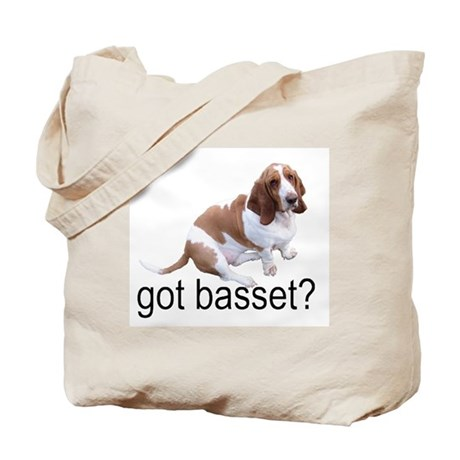 got basset? Tote Bag - Red & White