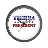 TIERRA for president Wall Clock