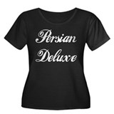 PERSIAN DELUXE Women's Plus Size Scoop Neck Dark T