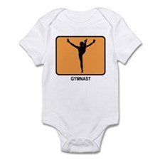 Gymnast (orange) Infant Bodysuit