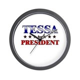 TESSA for president Wall Clock