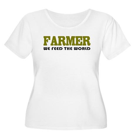 Funny Farmer Women's Plus Size Scoop Neck T-Shirt