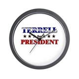 TERRELL for president Wall Clock