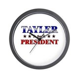 TAYLER for president Wall Clock