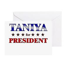 TANIYA for president Greeting Card