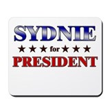 SYDNIE for president Mousepad