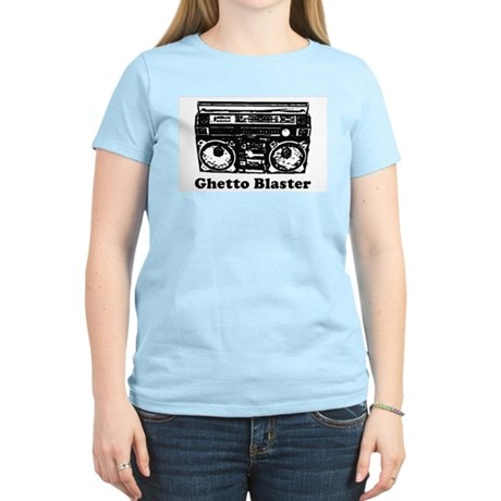 Ghetto Blaster Womens Pink T-Shirt
