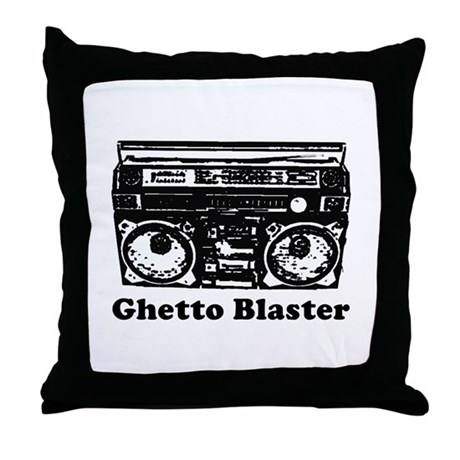Ghetto Blaster Throw Pillow