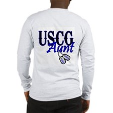 USCG Dog Tag Aunt Long Sleeve T-Shirt