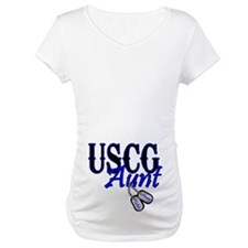 USCG Dog Tag Aunt Shirt