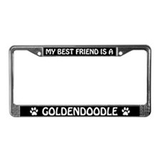 My Best Friend Is A Goldendoodle License Frame