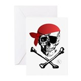 Pirate Skull & Crossbones Greeting Cards (Pk of 10