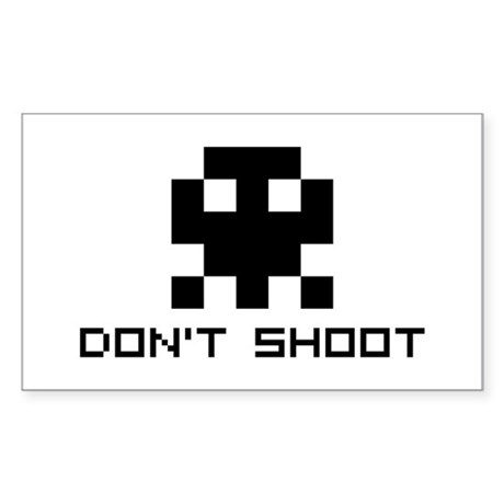 Don't Shoot Rectangle Sticker
