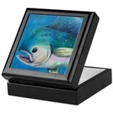 Mahi Mahi coasters and throw Keepsake Box