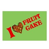 I Love Fruitcake Postcards (Package of 8)