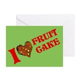 I Love Fruitcake Greeting Cards (Pk of 10)