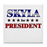 SKYLA for president Tile Coaster