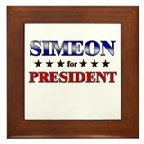 SIMEON for president Framed Tile