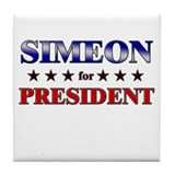 SIMEON for president Tile Coaster
