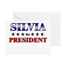 SILVIA for president Greeting Cards (Pk of 10)