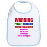 WARNING NO TRESPASSING Bib