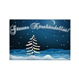Christmas Night Rectangle Magnet (10 pack)