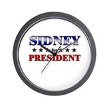 SIDNEY for president Wall Clock