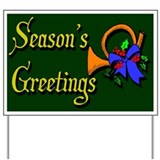 Horn Season's Greetings Yard Sign