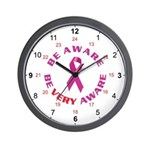 Breast Cancer Awareness Wall Clock