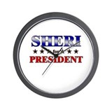 SHERI for president Wall Clock