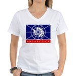 Antarctica Women's V-Neck T-Shirt