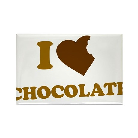 I Love [Heart] Chocolate Rectangle Magnet