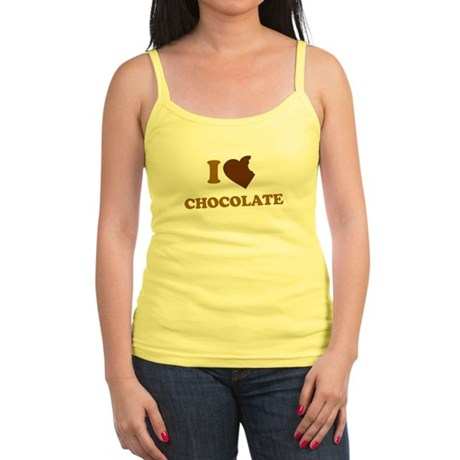 I Love [Heart] Chocolate Jr Spaghetti Tank