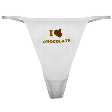 I Love [Heart] Chocolate Classic Thong