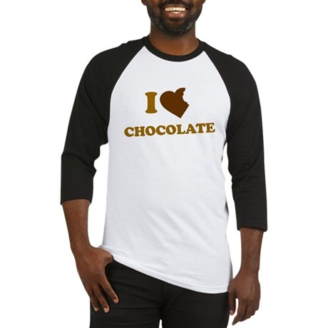 I Love [Heart] Chocolate Baseball Jersey